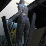 Rear View of Bronze sculpture by Richard Becker