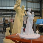Large Foam CNC roughed out at CyberFX Burbank