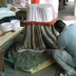 Making mold of pioneer dress