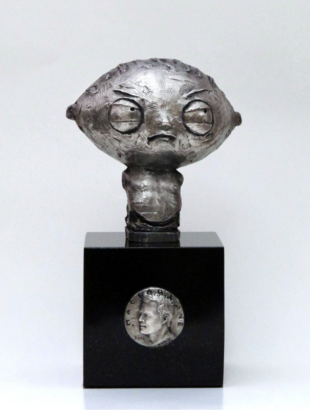 Seth MacFarlane and  Stewie Stainless Bust